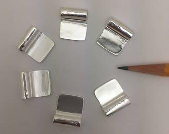 6 glue on flat  bail pads 18 mm x 15 mm