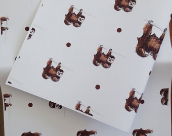 Sloth wrapping paper- gift wrap- for sloth lovers,sloths,  read description