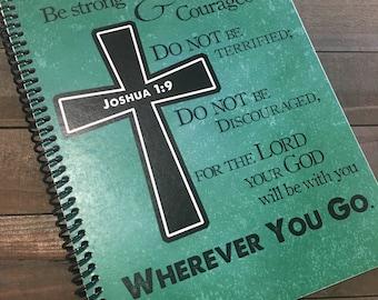 Mens Prayer Journal - Bible Journaling - Journal - Christian gift - Scripture Journal - Bible Study - Teen Prayer Journal - *Green Pictured*
