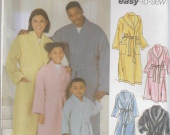 Family Robe Pattern Simplicity 5931 All Sizes Uncut
