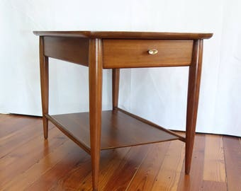 Mid Century Modern Mersman End Table,  Vintage Walnut Side Table, Retro Danish Coffee Table