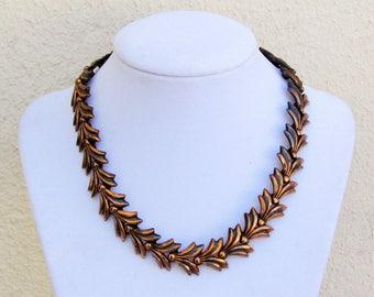 Vintage Rebajes copper necklace, c.1950's copper jewelry