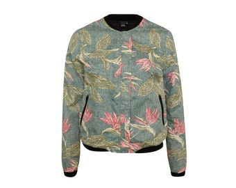 "ALOHA bomber jacket ""bird of paradise"""