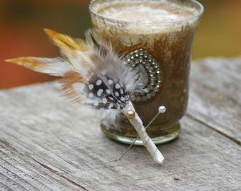 Fly Fish Feather Boutonniere Alternative