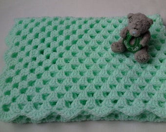 Crochet baby blanket pattern tutorial PDF file