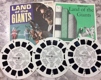 View-Master Reels Land of the Giants Original Package from 1968 GAF ViewMaster Reels B494 Science Fiction TV Show Scarce Hard to Find