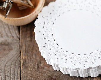 White Lace Paper Doily.  Paper Packaging.  Scrapbooking.  Wedding