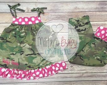 Girls 2 Piece Outfit-Military Homecoming Outfit-Welcome Home Mommy or Daddy