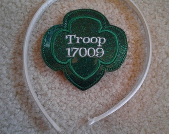 Trefoil Troop headband slider - Hair accessory