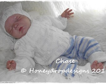 Chase Reborn Baby Knitting Pattern (0-9 Months Approx)