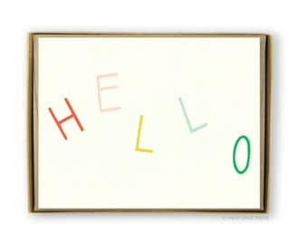 Boxed Stationery Set of 8 Note Cards - Hello Multicolor Letters Note Cards