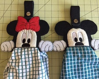 Mickey and Minnie Towel Topper/holder