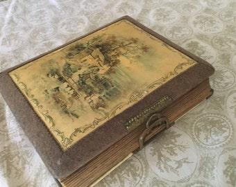 Antique Celluloid Photo Album,Antique Pictures,Collectibles