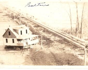 Vintage Photo Postcard....Vermont, Bolton, 1927 Flood....Used, 1927....no. VT0019