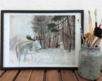 Art Print: Forest Spirit. Limited edition of 45 prints.