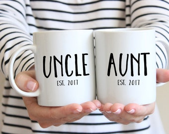 Uncle Gift, Uncle Mug, Brother Gift, Pregnancy Announcement, New Uncle Gift, Aunt Gift, New Aunt Gift, Aunt Mug
