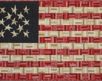 Flag No. 3 wall quilt