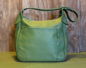 Green Purse Samsonite Saturn Shoulder Bag Carry On Luggage Retro Mod Women Vintage 1970s 70s (G)