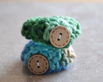 Baby ID Bracelets- Multi color green and blue- Twin baby anklets