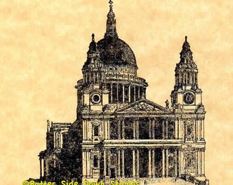 St Paul's Cathedral Rubber Stamp