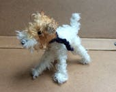 Wirehaired Fox Terrier Miniature dog custom dog portrait needle felted dog gifts for dog owner dog miniature portraits of my dog