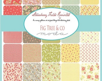 25% Off SALE Strawberry Fields Revisited Charm Pack by Fig Tree & Co. - One Charm Packs - 20260PP