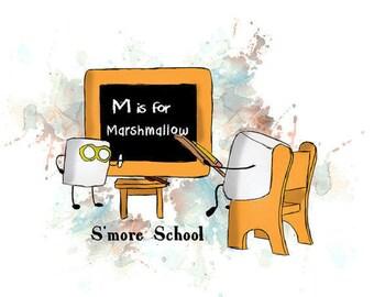 Smore school Teacher Marshmallow - Unisex Longsleeve Shirt - FREE US shipping