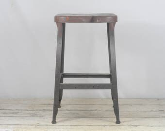 "Vintage Industrial Stool Lyon Industrial Seating 23.5"" Lab Stool Office Stool Kitchen"