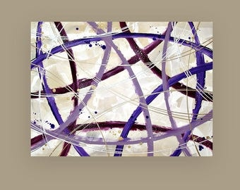 """Art and Collectibles, Abstract Painting,Art,Canvas Art,Acrylic Painting,Original Paintings By Ora Birenbaum Titled: Whimsy 2 30x40x1.5"""""""