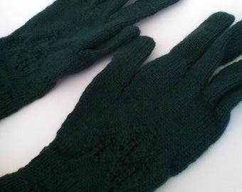 Bianca Gloves - Dark Forest Green - Size M