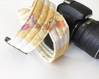 Camera Strap - dslr camera strap - winnie the pooh camera strap - camera neck strap - disney camera strap - Christopher Robin - piglet