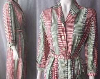 1940s rayon dress, deadstock-still tagged