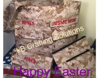 EASTER SPECIAL Military Pocket Purse/TriFold Checkbook Wallet/Cosmetic Bag/Coin Purse