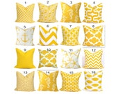Yellow Pillows.Yellow Pillow Cover,Yellow Decorative Pillow, Yellow Throw Pillow, Pillows, Yellow Accent Pillow, Yellow Cushion Cover