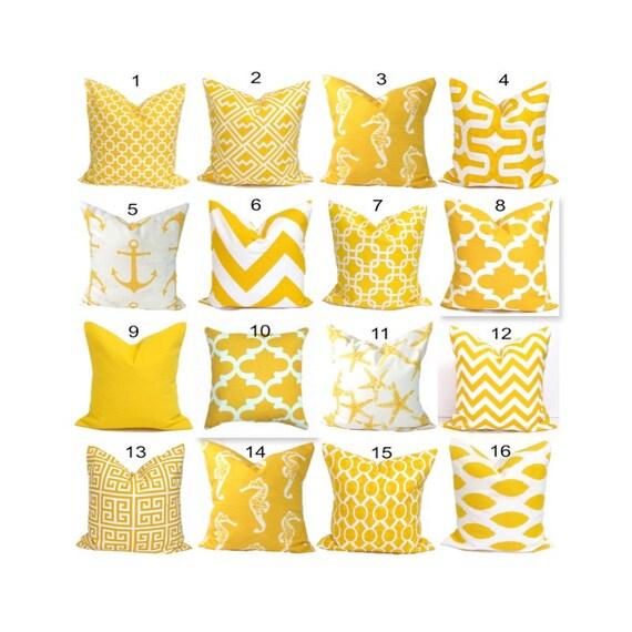 Soft Yellow Decorative Pillow : Yellow Pillows.Yellow Pillow CoverYellow Decorative Pillow