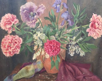 Very nice painting oil painting. A bouquet.