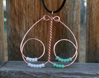 Curvy abacus knitting row counter pendant