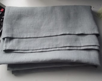 Bed cover. Bed coverlet. Linen bed cover. Medium grey linen bed cover/coverlet. Heavy weight linen.  Summer blanket.