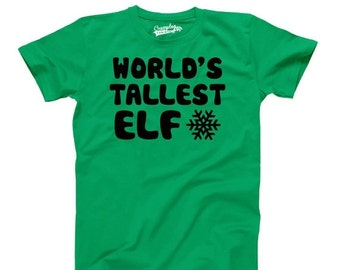 YOUTH World's Tallest Elf T-Shirt great Christmas present for kids, elf supporters, elves have rights too shirt S - XL