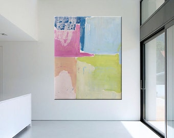 Large Contemporary Original Modern Abstract Wall Decor Painting by Libby Emi Fine Art