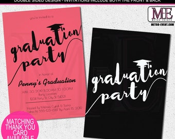 Boho Graduation Party Invitations