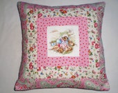 Beatrix Potter's MRS TIGGY-WINKLE Patchwork Nursery Cushion with Cath Kidston Fabrics