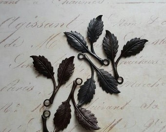 Vintaj Arte Metal {Beech Leaves Charm Set} 6 Pcs