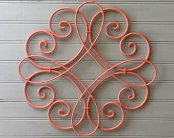 Attirant Coral Metal Wall Hanging / Metal Wall Decor / Decorative Wall Hanging / Coral  Wall Decor