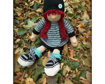 Raggedy Penelope Lottie ragdoll doll knitted doll PATTERN