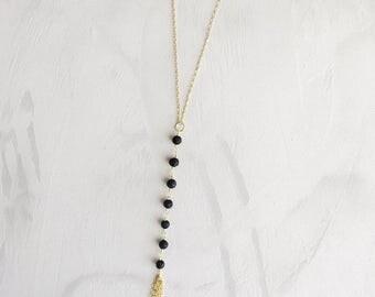 Lava Diffuser Necklace // Oil Diffuser Necklace // Lava Lariat Necklace // Lava Y Necklace // Essential Oil Diffuser
