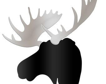 MOOSE Metal Cut-out | Large Moose Wall Decor