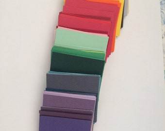 "Papers Squares 140 2.25"" 2 1/4"" Inch Card Stock Mulitple Colors You pick! Great for Card Making Paper Crafts Confetti Scrapbooking"