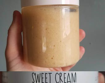 Super Cream Whipped Sugar Scrub-with Swedish Pearl Sugar-Sweet Cream