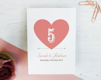 Wedding Table Names - 'Beau & Arrow' Table Names - Wedding Signs - Table Names - Wedding Table Number - Wedding Decor